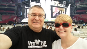 Eddie attended Taylor Swift Reputation Stadium Tour on May 8th 2018 via VetTix