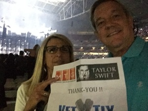 Agent & Tango attended Taylor Swift Reputation Stadium Tour on May 8th 2018 via VetTix