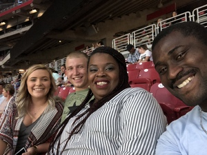Akwasi attended Taylor Swift Reputation Stadium Tour on May 8th 2018 via VetTix