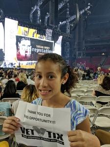 Alejandro attended Taylor Swift Reputation Stadium Tour on May 8th 2018 via VetTix