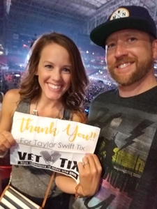 Nick attended Taylor Swift Reputation Stadium Tour on May 8th 2018 via VetTix