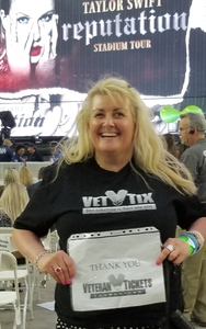 Sam attended Taylor Swift Reputation Stadium Tour on May 8th 2018 via VetTix