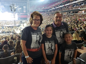 David attended Taylor Swift Reputation Stadium Tour on May 8th 2018 via VetTix
