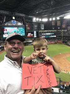 Norm D attended Arizona Diamondbacks vs. Washington Nationals - MLB on May 10th 2018 via VetTix