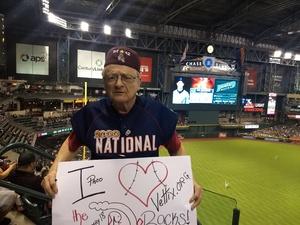 Frank PACO attended Arizona Diamondbacks vs. Washington Nationals - MLB on May 10th 2018 via VetTix