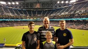 Arthur attended Arizona Diamondbacks vs. Washington Nationals - MLB on May 10th 2018 via VetTix