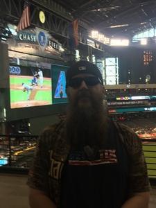 ROB attended Arizona Diamondbacks vs. Washington Nationals - MLB on May 10th 2018 via VetTix