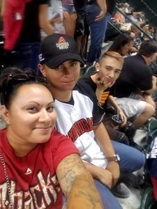 Monica attended Arizona Diamondbacks vs. Washington Nationals - MLB on May 10th 2018 via VetTix
