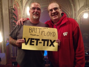 Dale attended Brit Floyd Eclipse World Tour 2018 '45 Years of the Dark Side of the Moon' on May 10th 2018 via VetTix