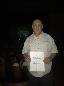 Steve attended Brit Floyd Eclipse World Tour 2018 '45 Years of the Dark Side of the Moon' on May 10th 2018 via VetTix