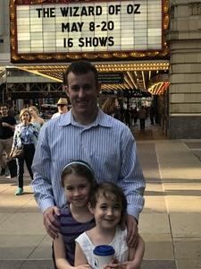 Nick attended The Wizard of Oz - Opening Night on May 8th 2018 via VetTix