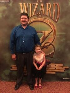 Glen attended The Wizard of Oz - Opening Night on May 8th 2018 via VetTix