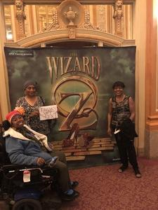 Lynda attended The Wizard of Oz - Opening Night on May 8th 2018 via VetTix