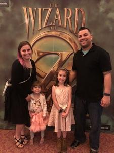 Louis attended The Wizard of Oz on May 9th 2018 via VetTix