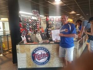 gene attended Minnesota Twins vs. Los Angeles Angels - MLB on Jun 8th 2018 via VetTix