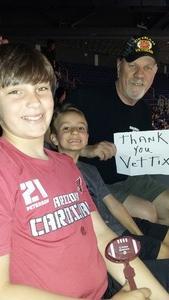 Patrick attended Arizona Rattlers vs. Iowa Barnstormers - IFL on May 20th 2018 via VetTix