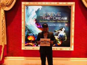 JESSE attended Le Reve - the Dream on May 7th 2018 via VetTix