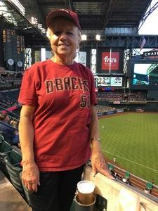 Donna attended Arizona Diamondbacks vs. Milwaukee Brewers- MLB on May 14th 2018 via VetTix