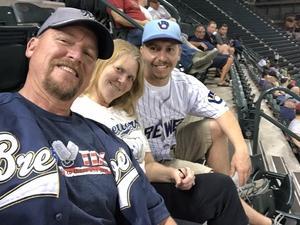 Michael attended Arizona Diamondbacks vs. Milwaukee Brewers- MLB on May 14th 2018 via VetTix