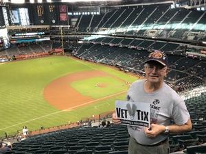 Lynn attended Arizona Diamondbacks vs. Milwaukee Brewers- MLB on May 14th 2018 via VetTix