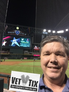 Glenn attended Arizona Diamondbacks vs. Milwaukee Brewers - MLB on May 15th 2018 via VetTix