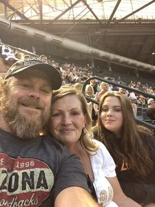 CHAD WOOD attended Arizona Diamondbacks vs. Milwaukee Brewers - MLB on May 15th 2018 via VetTix
