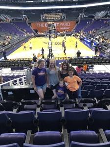 Joshua attended Phoenix Mercury vs. Seattle Storm - WNBA on May 12th 2018 via VetTix