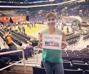 Tabitha attended Phoenix Mercury vs. Seattle Storm - WNBA on May 12th 2018 via VetTix