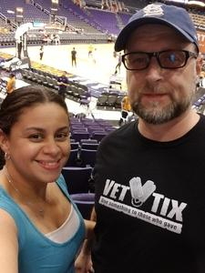 William attended Phoenix Mercury vs. Seattle Storm - WNBA on May 12th 2018 via VetTix