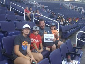 DOUGLAS attended Phoenix Mercury vs. Seattle Storm - WNBA on May 12th 2018 via VetTix