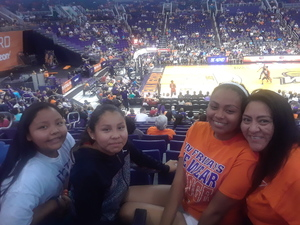 celeste attended Phoenix Mercury vs. Washington Mystics - WNBA on May 30th 2018 via VetTix