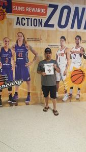Jesus attended Phoenix Mercury vs. Connecticut Sun - WNBA on Jun 16th 2018 via VetTix