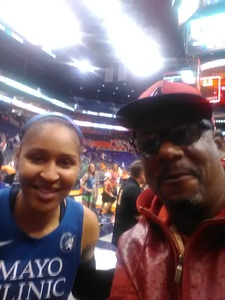 Joseph attended Phoenix Mercury vs. Minnesota Lynx - WNBA on Jun 22nd 2018 via VetTix