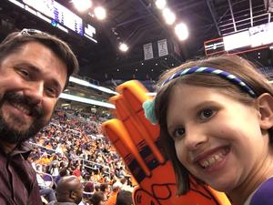 Benjamin attended Phoenix Mercury vs. Minnesota Lynx - WNBA on Jun 22nd 2018 via VetTix