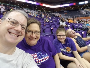 Drew attended Phoenix Mercury vs. Connecticut Sun - WNBA on Jul 5th 2018 via VetTix