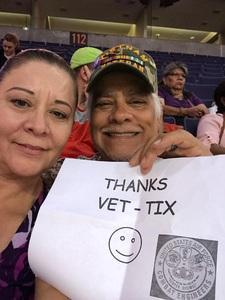 henry attended Phoenix Mercury vs. Connecticut Sun - WNBA on Jul 5th 2018 via VetTix