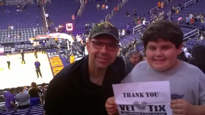 Gregory attended Phoenix Mercury vs. Connecticut Sun - WNBA on Jul 5th 2018 via VetTix