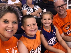 Burton attended Phoenix Mercury vs. Los Angeles Sparks - WNBA on Aug 12th 2018 via VetTix