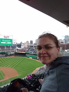 Rebekah attended Minnesota Twins vs. Milwaukee Brewers - MLB on May 19th 2018 via VetTix