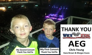 Jonathan attended Chris Young Losing Sleep World Tour With Special Guests: Kane Brown and Morgan Evans on May 11th 2018 via VetTix