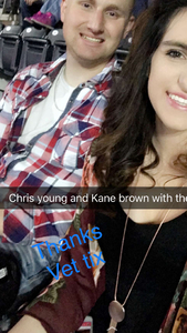 Stacy attended Chris Young Losing Sleep World Tour With Special Guests: Kane Brown and Morgan Evans on May 11th 2018 via VetTix