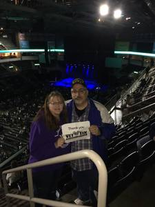Dan & Caryn attended Chris Young Losing Sleep World Tour With Special Guests: Kane Brown and Morgan Evans on May 11th 2018 via VetTix