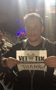 Joel attended Chris Young Losing Sleep World Tour With Special Guests: Kane Brown and Morgan Evans on May 11th 2018 via VetTix