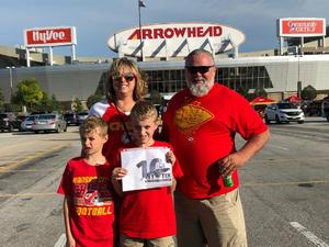 Mark attended Kansas City Chiefs vs. Green Bay Packers - NFL Preseason on Aug 30th 2018 via VetTix