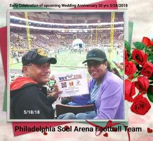 Frank Lopez, Jr. / USMC attended Philadelphia Soul vs. Albany Empire - IFL on May 19th 2018 via VetTix