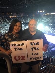 Lynn attended U2 Experience + Innocence Tour on May 12th 2018 via VetTix