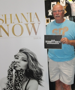 Everett attended Shania Twain Now Tour on May 16th 2018 via VetTix