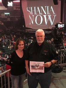 Malcolm attended Shania Twain Now Tour on May 16th 2018 via VetTix