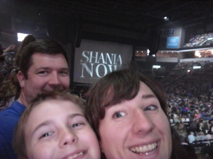 William attended Shania Twain Now Tour on May 16th 2018 via VetTix