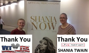 Jonathan attended Shania Twain Now Tour on May 16th 2018 via VetTix